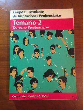 Libros derecho penitenciario Temario