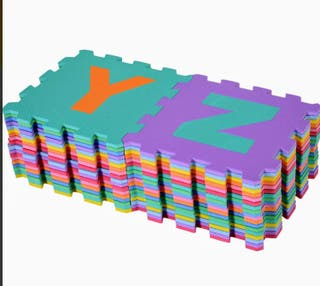 Puzzle foam lletres