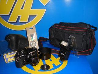 Camara analogica YASHICA FX-3 Super+bolsa+flash