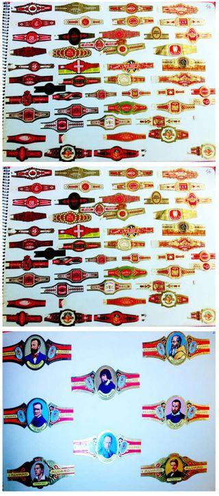 Gran coleccion de 325 vitolas de puros y tabaco an