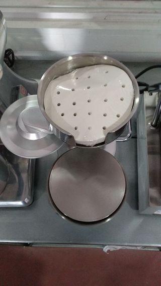 maquina formadora hamburguesas 2cabezales 10/13cm