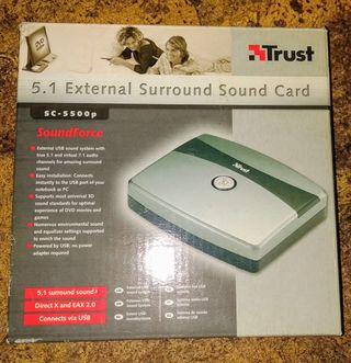 Tarjeta externa de sonido 5.1