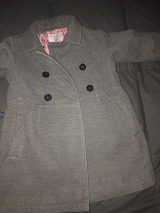 Abrigo de paño niña gris