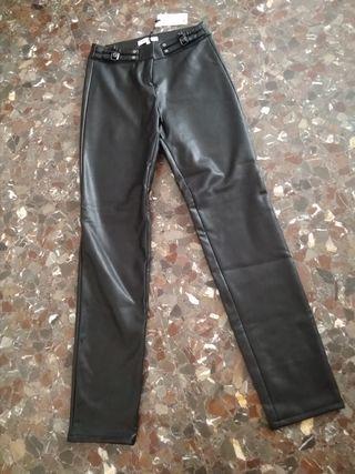 pantalón de polipiel Morgan talla 36.