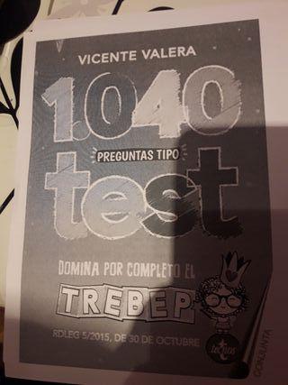 libros 1040 test oposiciones