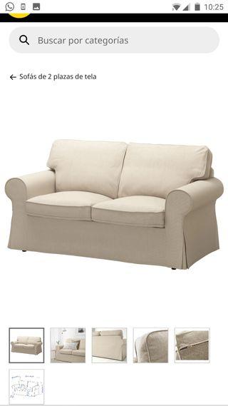 sofá de dos plazas EKTORP IKEA