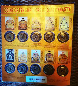 Monedas 10 emperadores China
