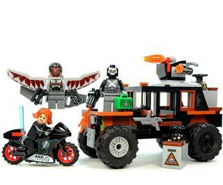 coche y moto de crossbones tipo lego avengers