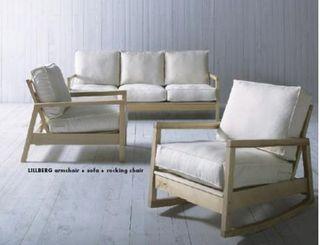 Sofá mecedora Lillberg de Ikea. Es de una plaza