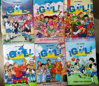 """Lote de 6 libros infantiles """"Serie Gol!"""" nº13-18"""
