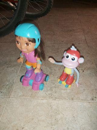 Dora y Botas patinadores