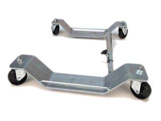 Plataforma con ruedas para mover Vespa clásica