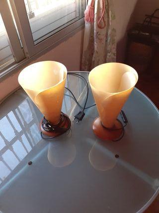 2 lamparitas de dormitorio