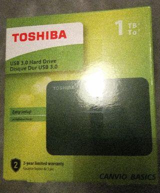 Disco duro ext 1Tb Toshiba