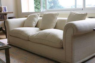 Sofá blanco 4 plazas