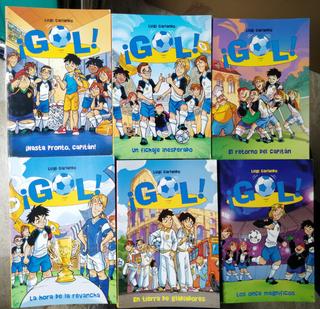 """Lote de 6 libros infantiles """"Serie Gol!"""" nº 7-12"""