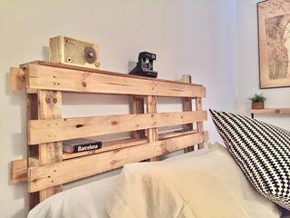 Cabecero cama dormitorio madera Palet industrial