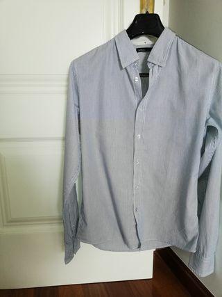 camisa mil rayas azul blanca