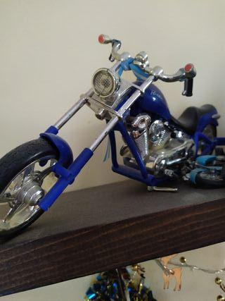 moto custom juguete con sonido