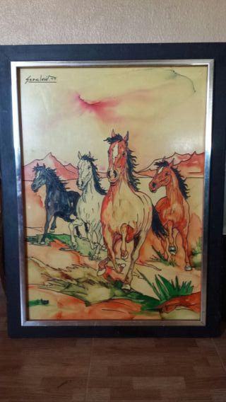 para coleccionistas cuadro de caballos echo amano