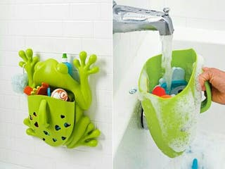 Guarda juguetes baño rana.