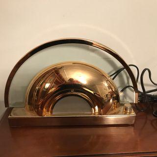 1 Luz Sobremesa Dormitorio Graduable Metal Dorado