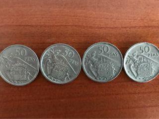 4 monedas de 50 pesetas