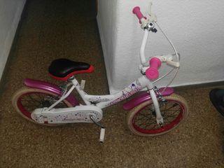 Bicicleta infantil ruedas 16 pulgadas