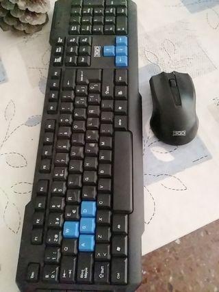 teclado y ratón inalambrico