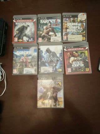 ps3:farcry,watch dog,gta,uncharted,assassins,redem