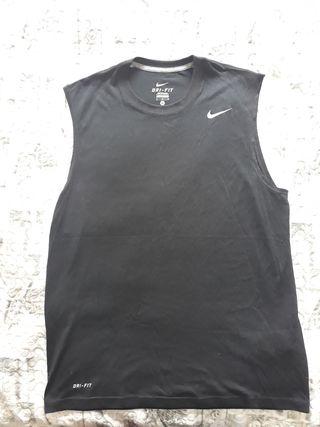 camiseta de tirantes Dri-Fit nike negra hombre M