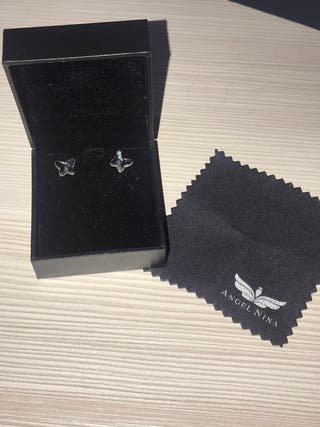 Pendientes de plata mariposa joya