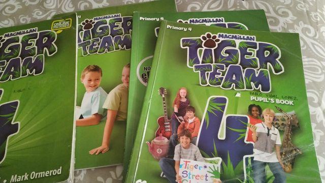 Libros de inglés Tiger team cuarto de primaria