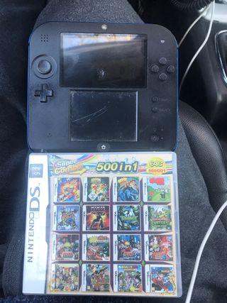Nintendo 2DS con 500 juegos