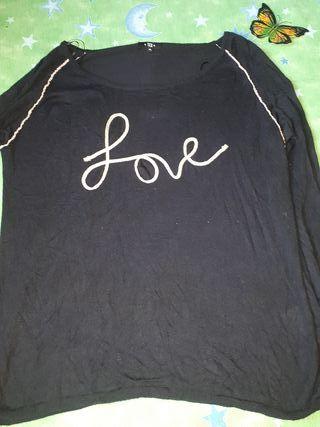 Jersey color negro talla XL
