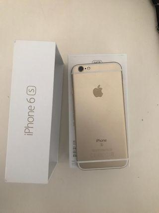iPhone 6s y Carcasa transparente y dorada