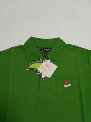 Polo de algodón verde