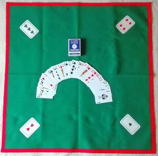 Baraja de póker + mantel