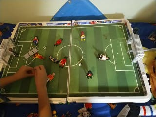 futbolín de playmobil