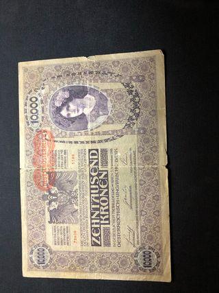 Billete austriaco 10.000 zhentausend