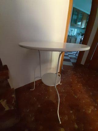LINDVEDMesa auxiliar, blanco, 50x68 cm