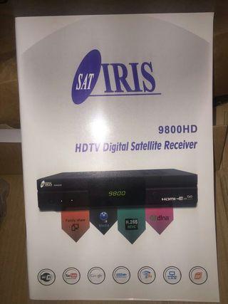 IRIS 9800 HD -Receptor de TV por satélite