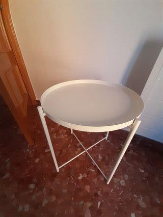 GLADOMMesa/bandeja, blanco, 45x53 cm