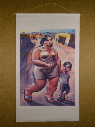 Pinturas impresas en tela del artista Enrique Rour