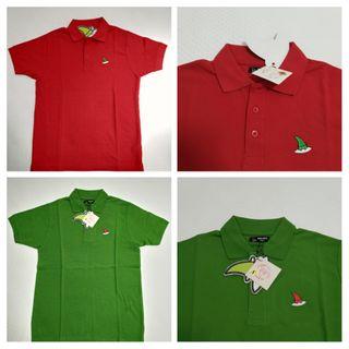Polos de algodón, talla S, Verde y Rojo