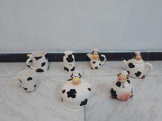 Juego de cocina vacas