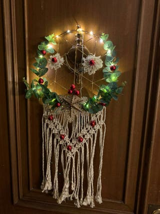 Corona de Navidad Luces