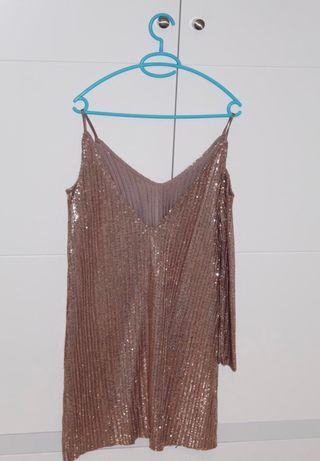 Vestido de fiesta lentejuelas Zara