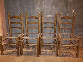 juego de 7 sillas madera roble