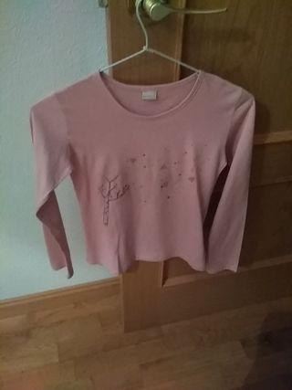 Camiseta rosa. T 12. BTS.